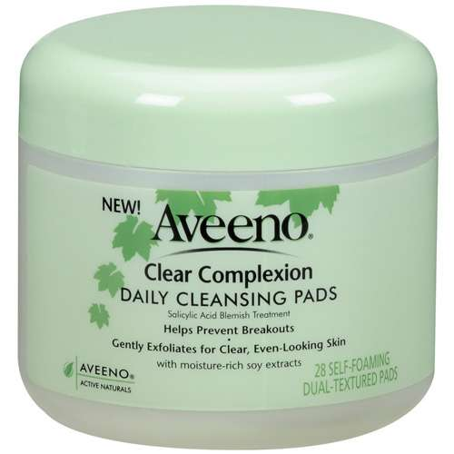 Aveeno(R) Clear Complexion Daily Cleansing Pads, Jar Cleansers 28 Ct