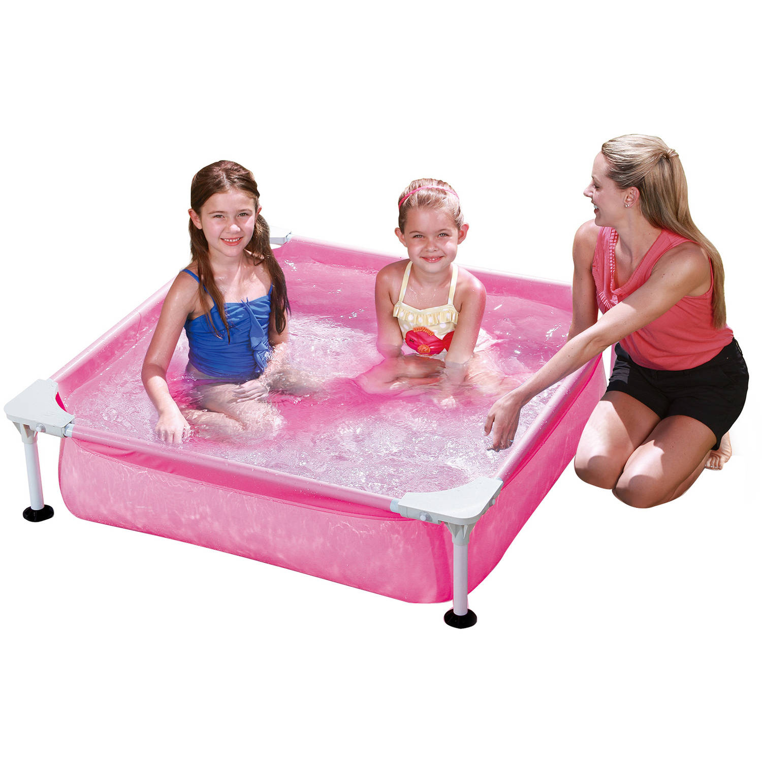 Summer Waves 4' Rectangular Metal Frame Above Ground Swimming Pool