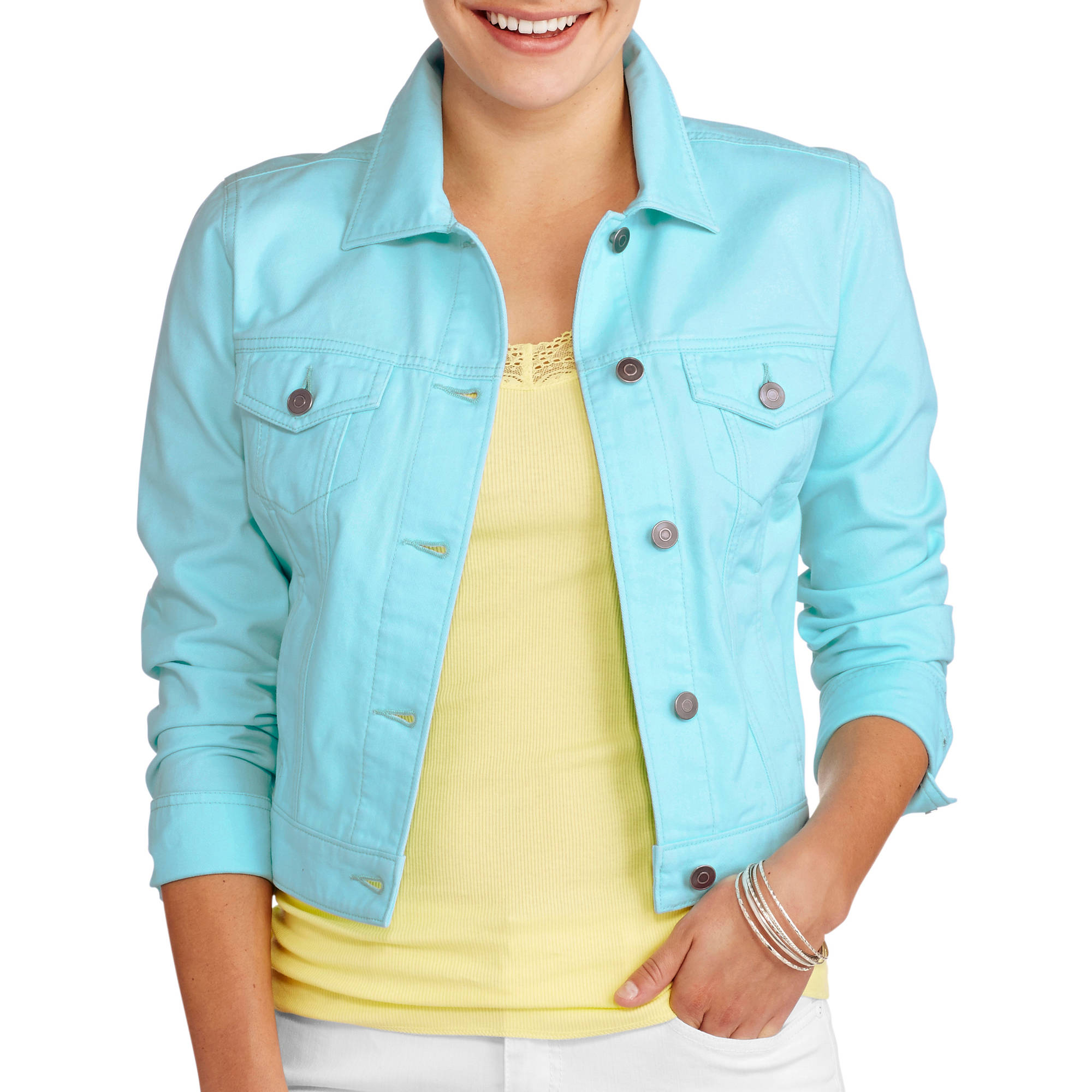 Faded Glory Women's Plus-Size Classic Denim Jacket