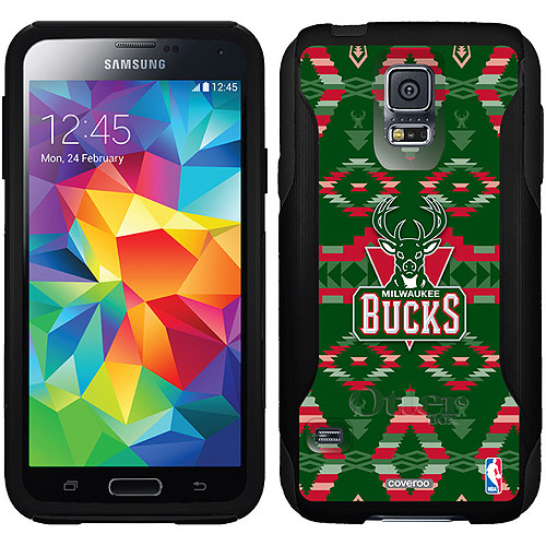 Milwaukee Bucks Tribal Print Design on OtterBox Commuter Series Case for Samsung Galaxy S5