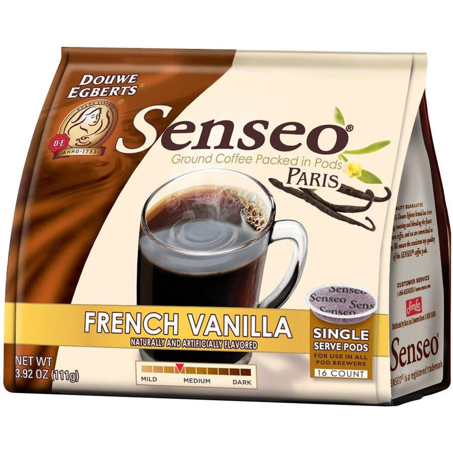 Douwe Egberts Senseo Paris French Vanilla Coffee Single Serve Pods, 16 count, 3.92 oz