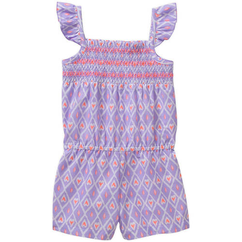 Healthtex Baby Toddler Girl Smocked Top Woven Romper