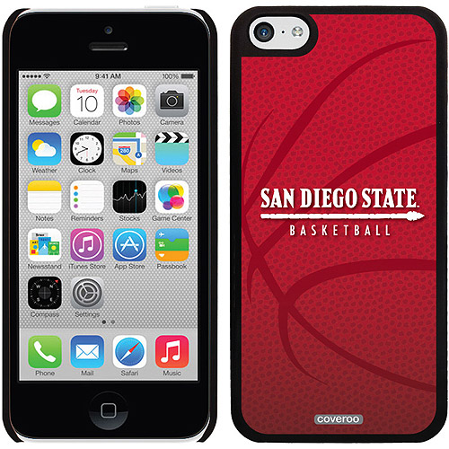 SDSU Basketball Design on Apple iPhone 5c Thinshield Snap-On Case by Coveroo