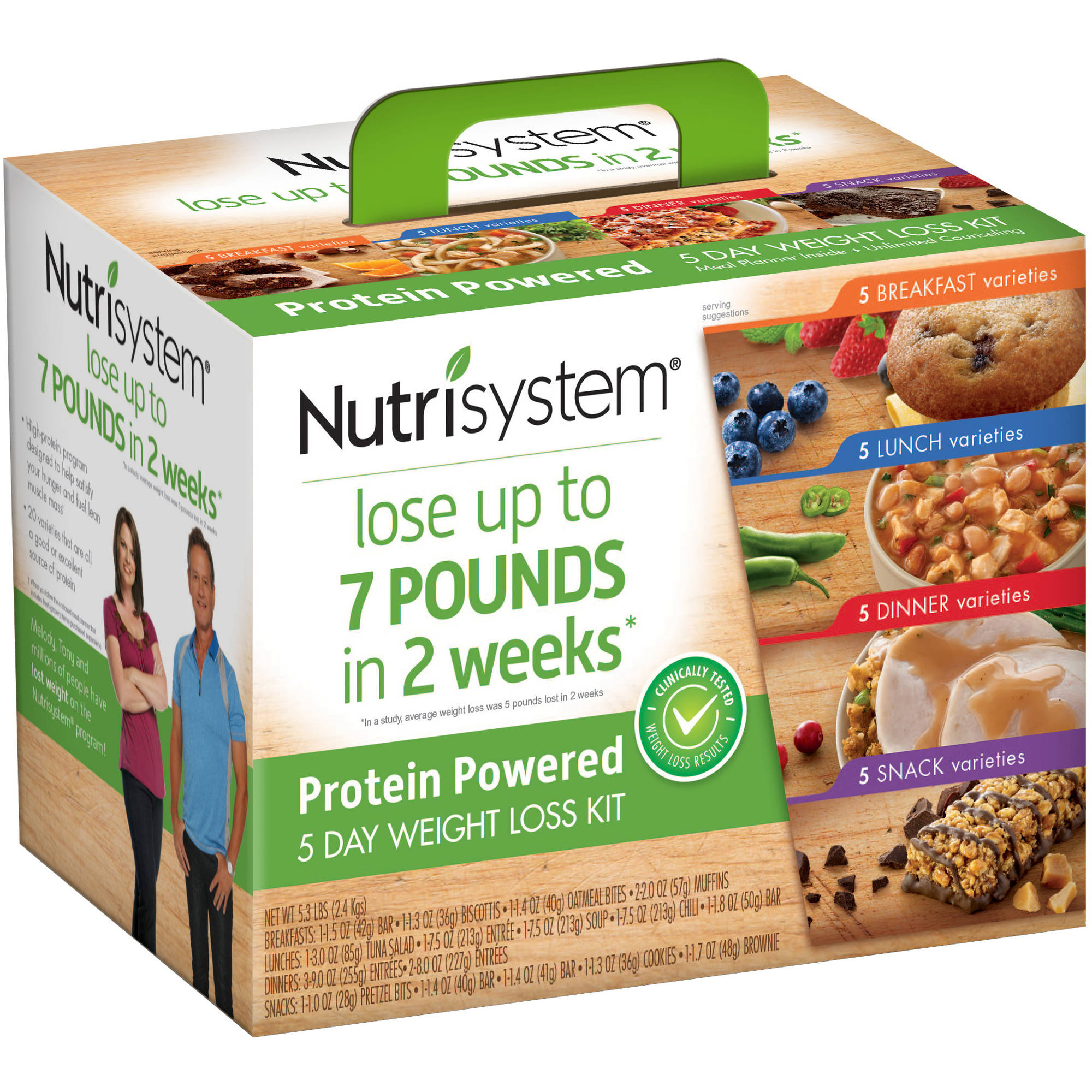 Nutrisystem Protein Powered 5 Day Weight Loss Kit, 5.3 lbs