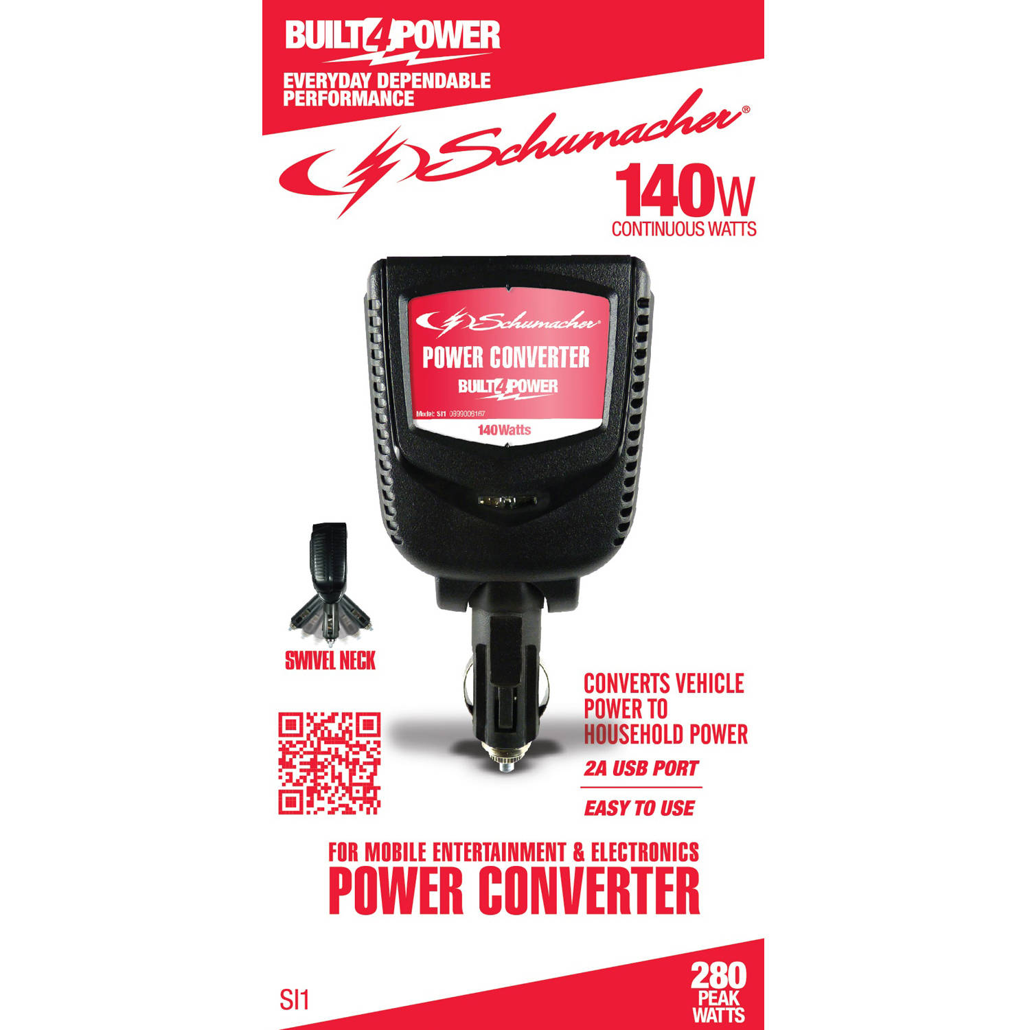 Schumacher Electric 140W Power Converter