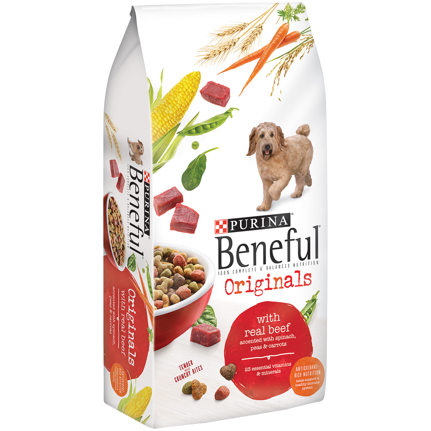 Purina Beneful Originals With Real Beef Dog Food 15.5 lb. Bag