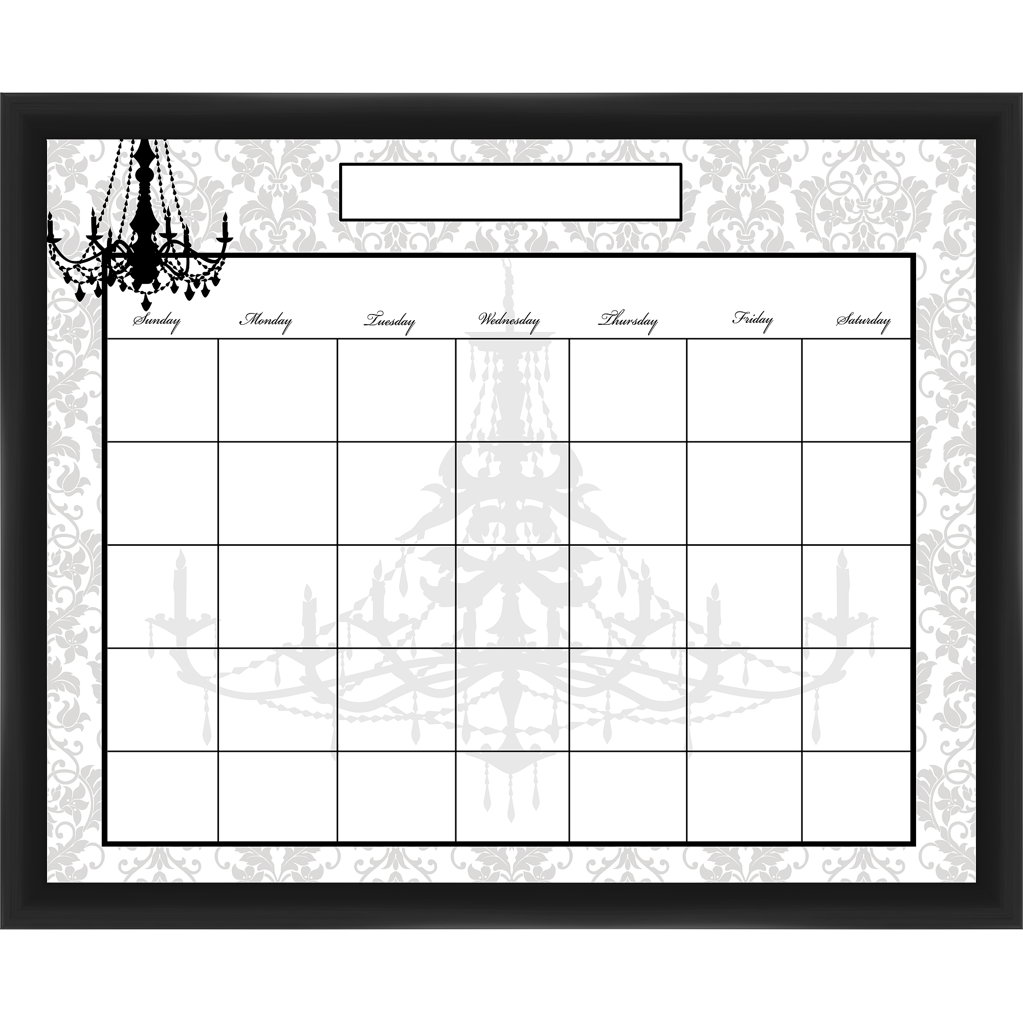 Chandelier Black Memoboard