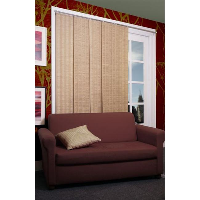 Chicology Adjustable Sliding Panel  Cordless Shade  Double Rail Track  Privacy Fabric  80'' x 96''  Provence Maple