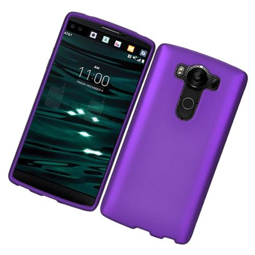 Insten Hard Rubber Coated Case For LG V10 - Purple