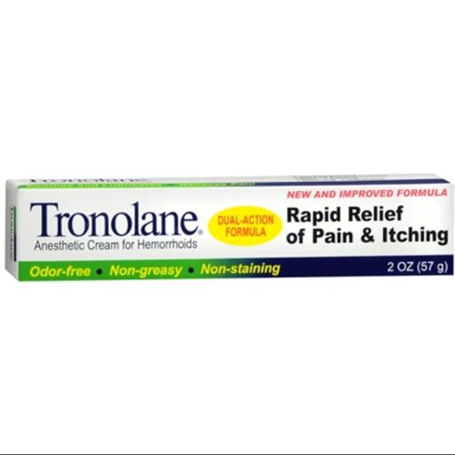 Tronolane Anesthetic Cream for Hemorrhoids 2 oz (Pack of 2)
