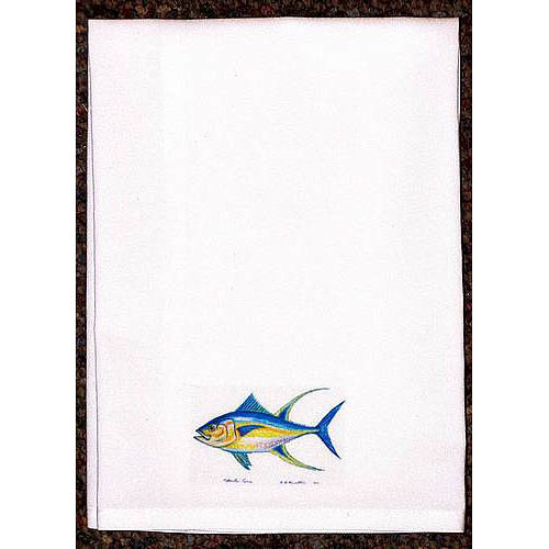 Betsy Drake Interiors Coastal Tuna Hand Towel (Set of 2)