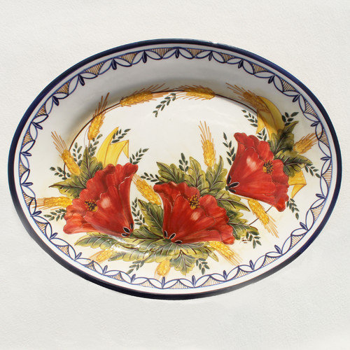 Melita's Home Papoilas Serving Platter