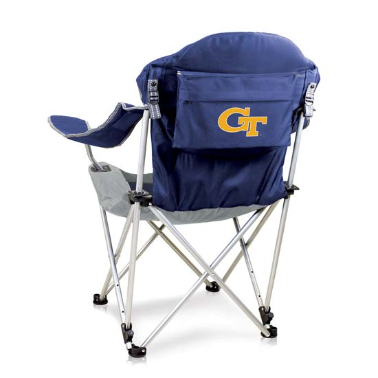 Georgia Tech Reclining Camp Chair (Navy)