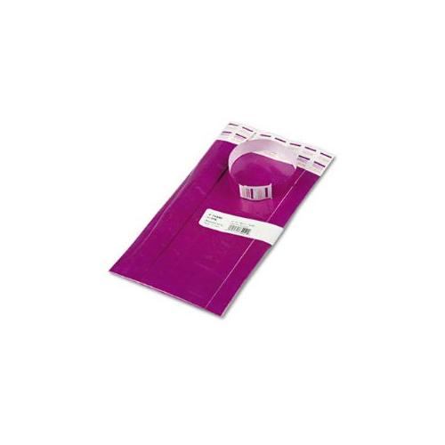 Crowd Management Wristbands, Sequentially Numbered, Purple, 100/Pack