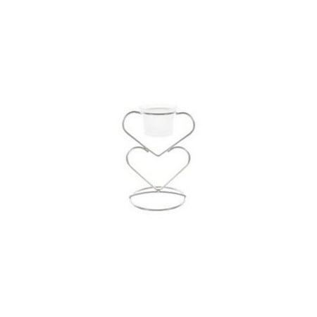 Ddi Double Heart Votive Candle Holder Double Heart Votive Candle Holder - Matte Silver