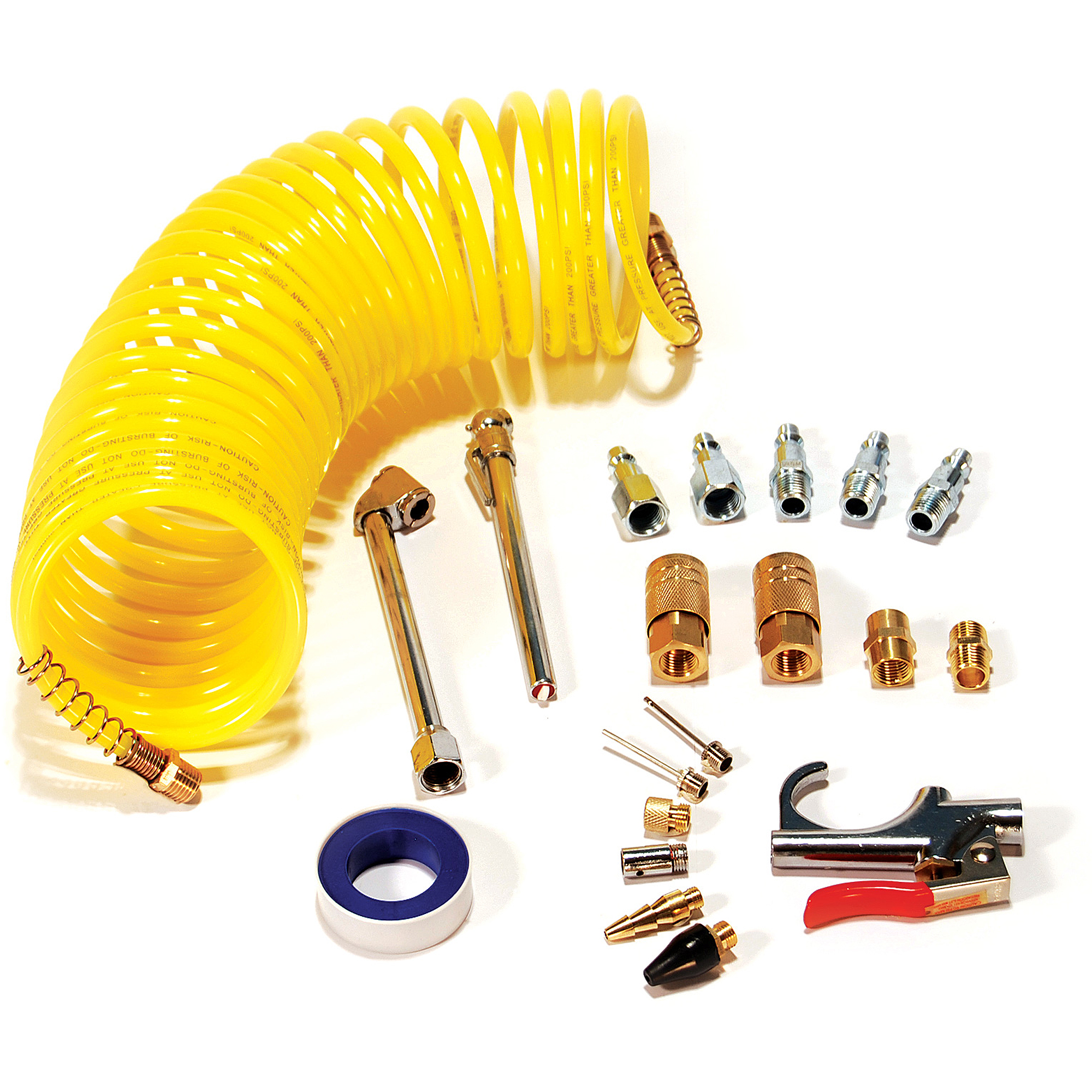 Primefit IK1016S-20 Air Accessory Kit with 25' Recoil Air Hose, 20-Pieces