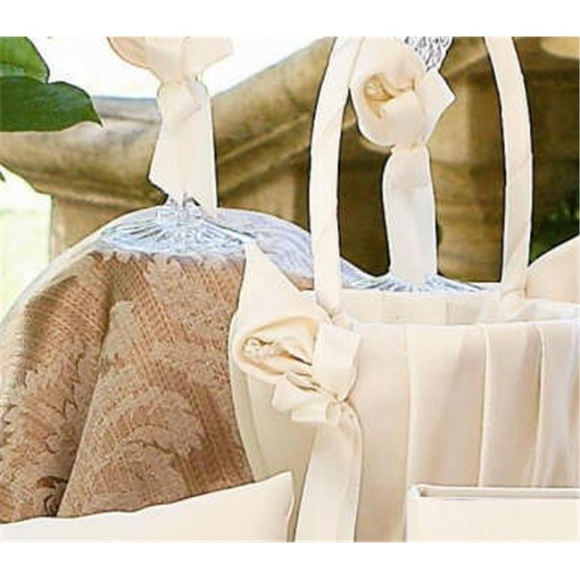 Beverly Clark A01075FB/IVO Calla Lily Flower Girl Basket - Ivory