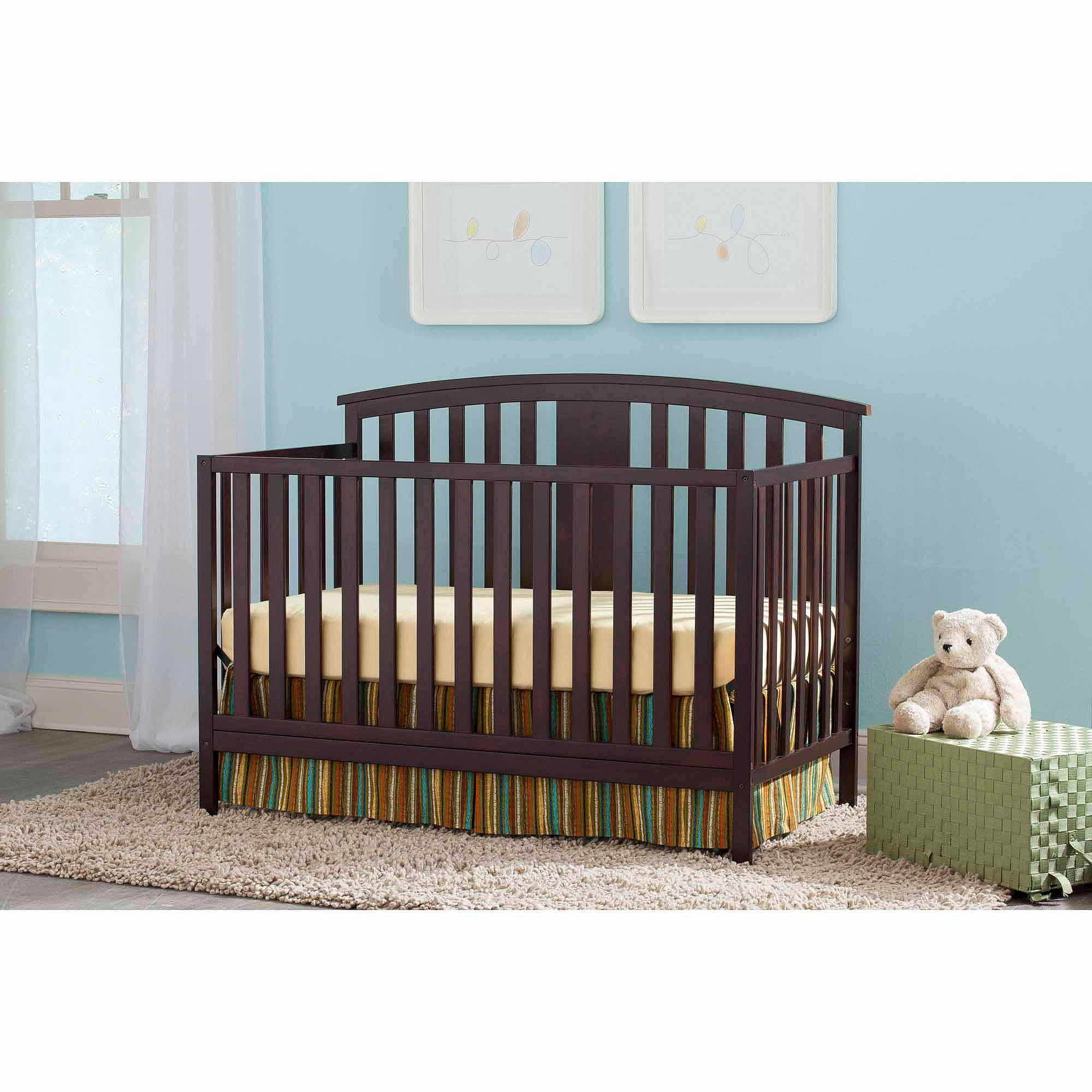 Storkcraft Greyson 3-in-1 Convertible Crib, Espresso