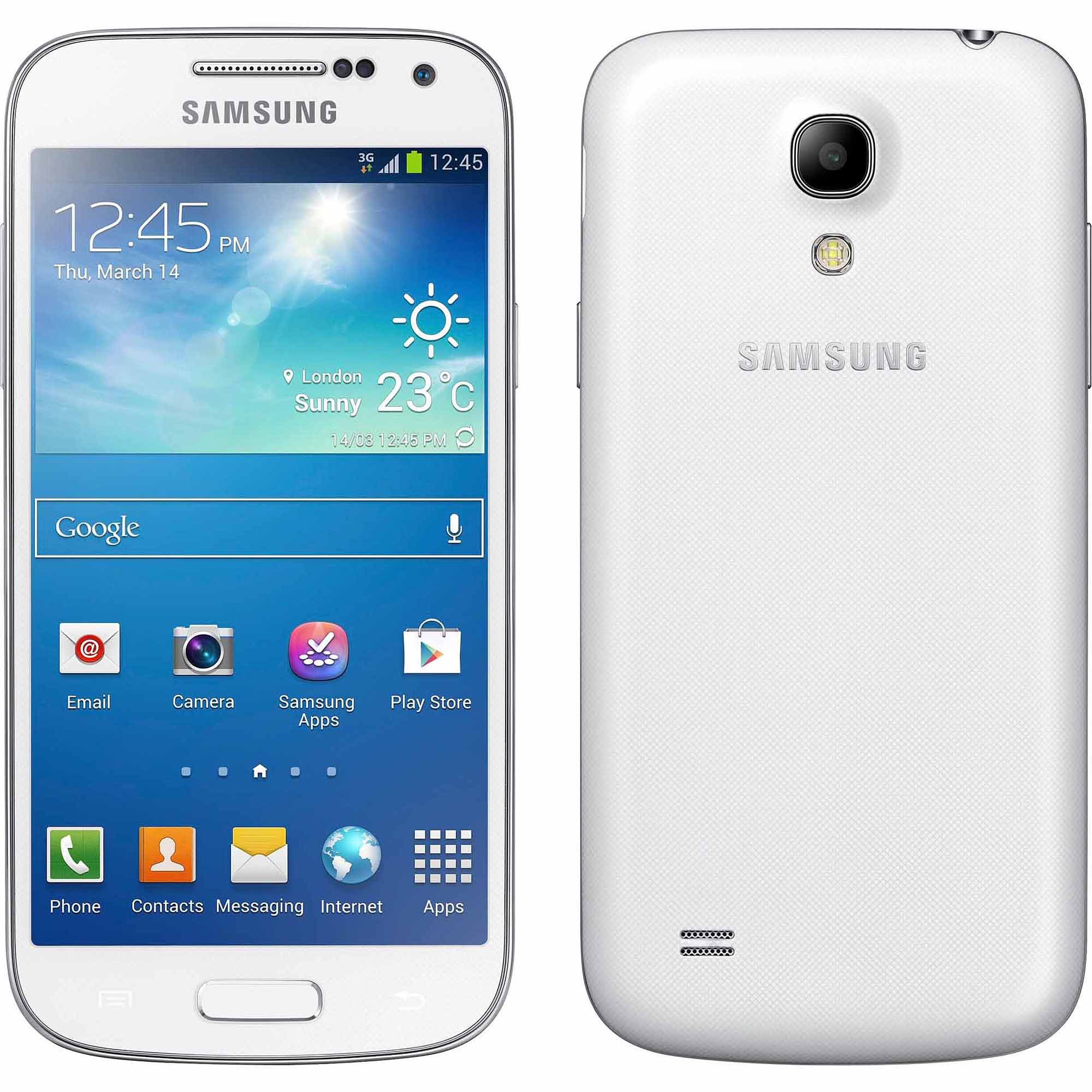 Samsung Galaxy 19190 S4 mini Smartphone (Unlocked), White