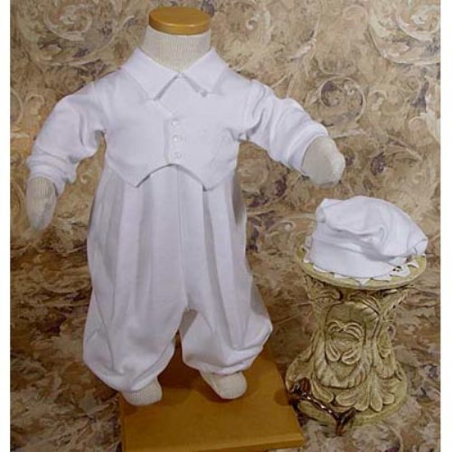 Emerson Cotton Christening Romper