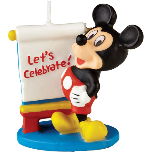 "Wilton 3"" Disney Mickey Mouse Clubhouse Candle 2811-7070"