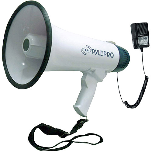 Pyle Professional Dynamic Megaphone with Recording Function/Detachable Microphone