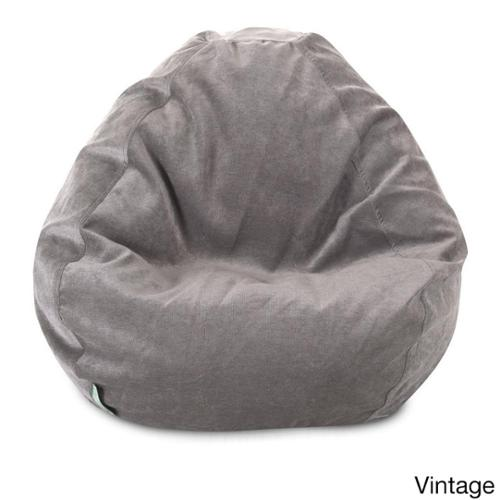 Majestic Home Goods Villa Collection Small Bean Bag Villa Vintage Small Classic Bean Bag