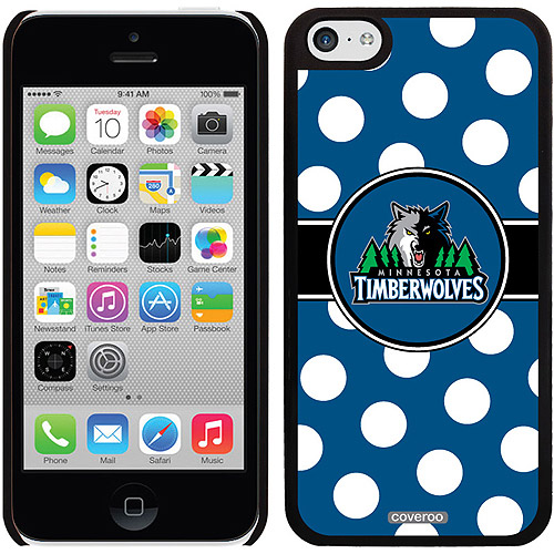 Minnesota Timberwolves Polka Dots Design on Apple iPhone 5c Thinshield Snap-On Case by Coveroo