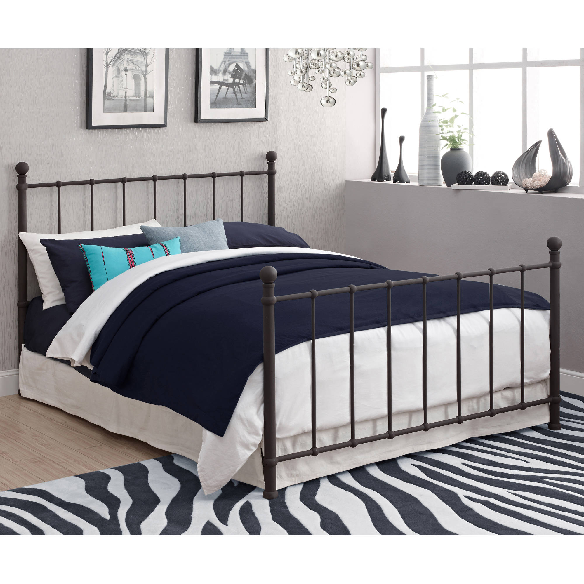 BrickMill Metal Full Bed, Multiple Colors