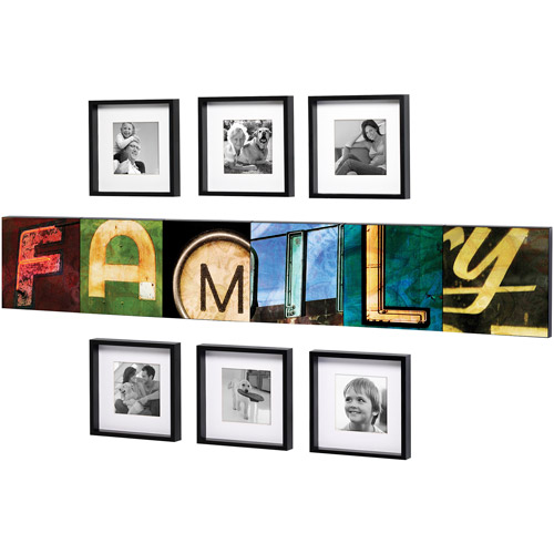 Beyond Words Retro Family 12-Piece Set, Satin Black