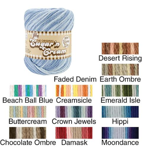 Sugar'n Cream Yarn Ombres Super Size Buttercream