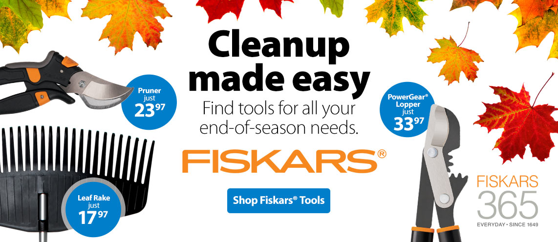 Cleanup made easy. Find tools for all your end-of-season needs.