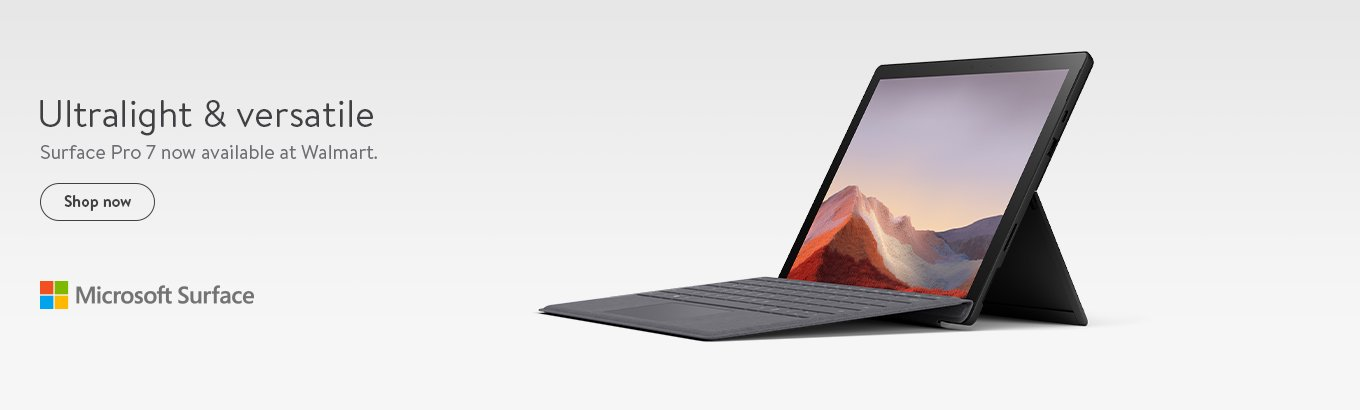 Ultralight & versatile. Surface Pro 7 now available at Walmart.