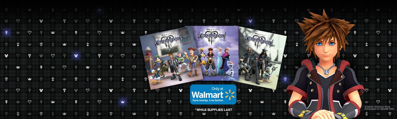 Kingdom Hearts 3. Walmart Exclusive. Preorder today and receive Kingdom Hearts 3 Art Cards.