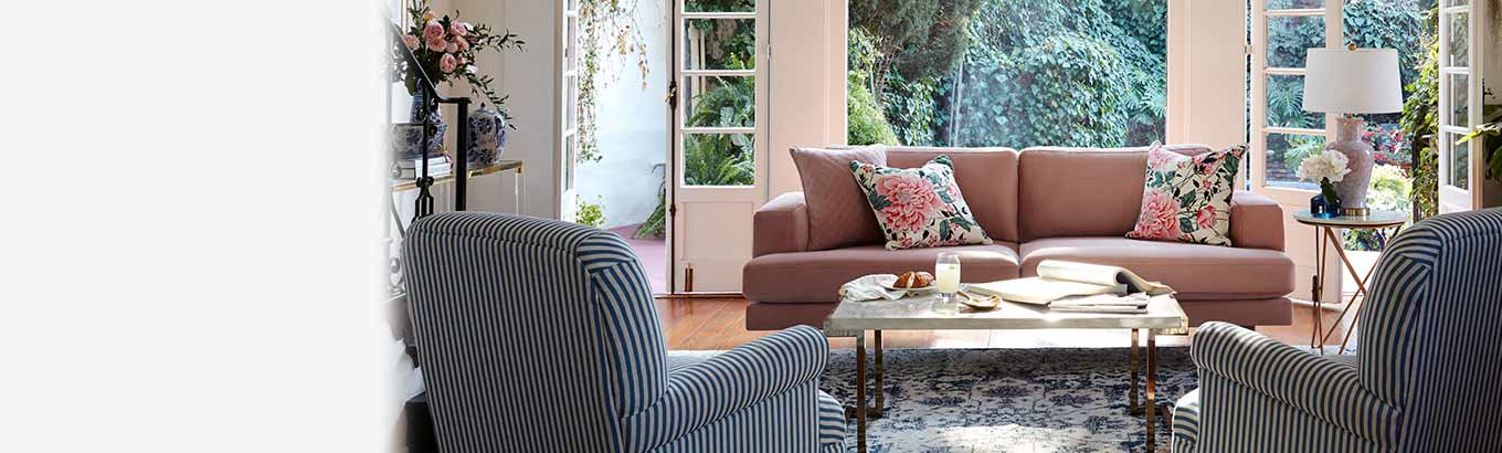 Springtime charm. Style in bloom. Shop fresh, new finds to transform your home inside and out.