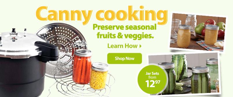 Canny Cooking. Preserve seasonal fruits & vegetables.