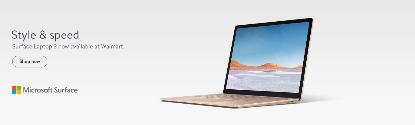 Style and speed. Surface Laptop 3 now available at Walmart.