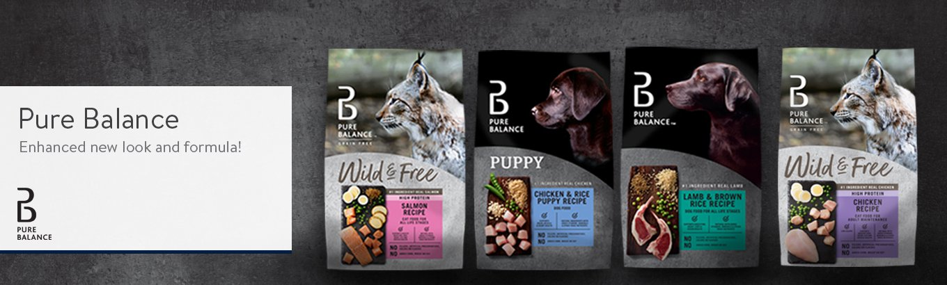 Pure Balance Dog and Cat Food Banner New Look