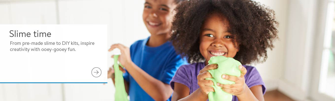 Slime time.  From pre-made slime to DIY kits, inspire creativity with ooey-gooey fun.