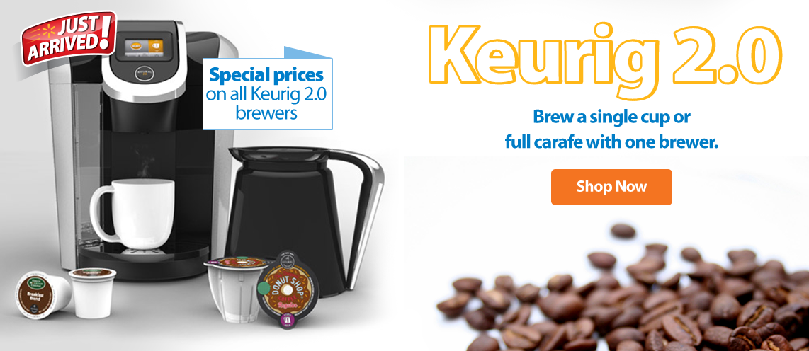 Keurig 2.0. Only at Walmart.