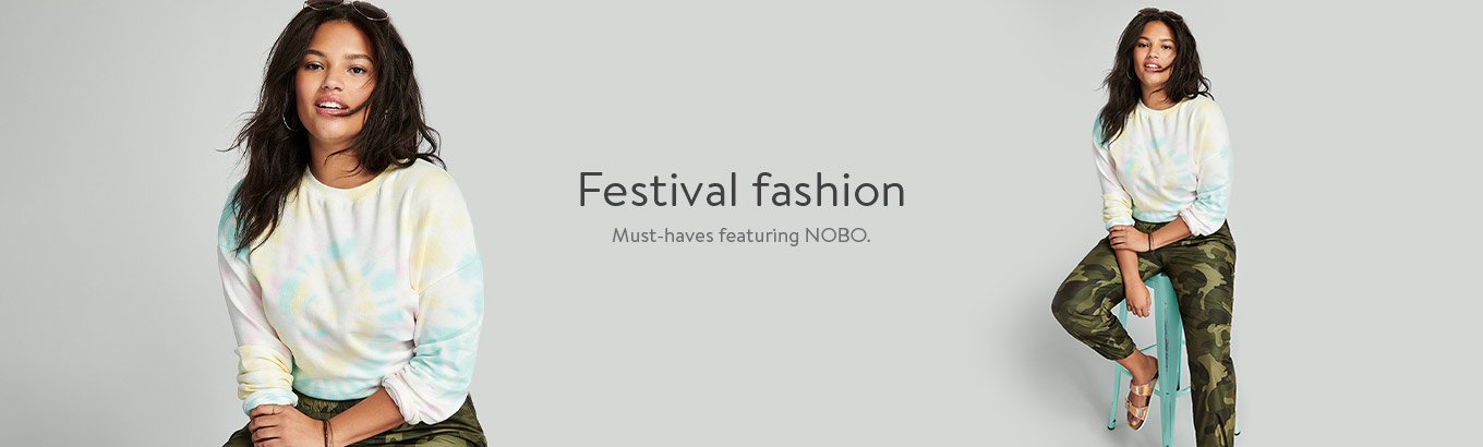 Festival fashion.??Must-haves featuring Nobo.