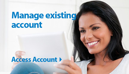 Credit Card Manage Existing Account