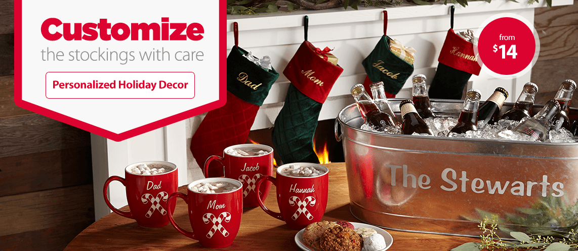Customize the stockings with care.