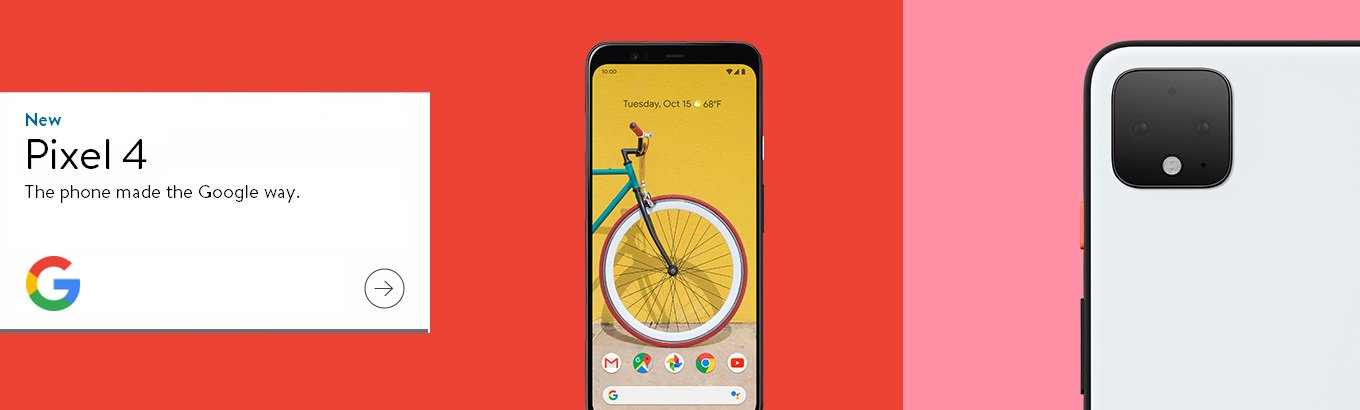 New Pixel 4. The phone made the Google way.
