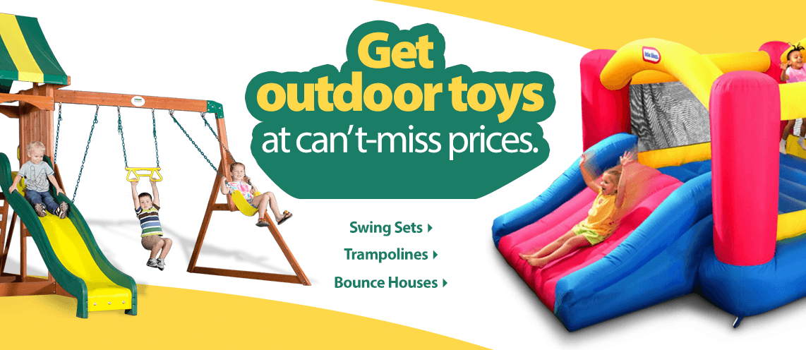 Outdoor Play Swing Sets & Bounce Houses