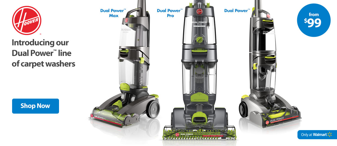 Introducing our Dual Power line of carpet washers.