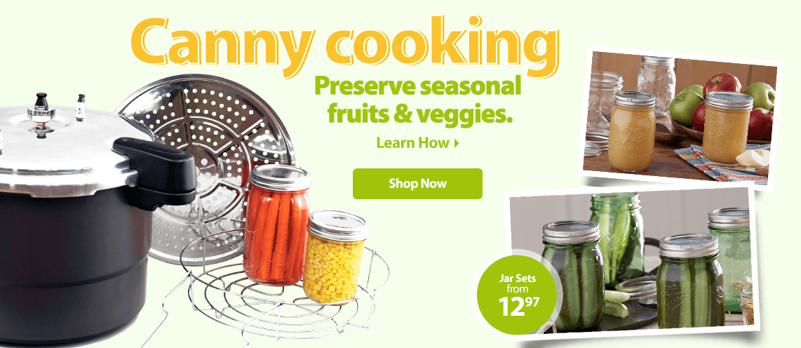 Canny cooking. Preserve seasonal fruits & veggies.