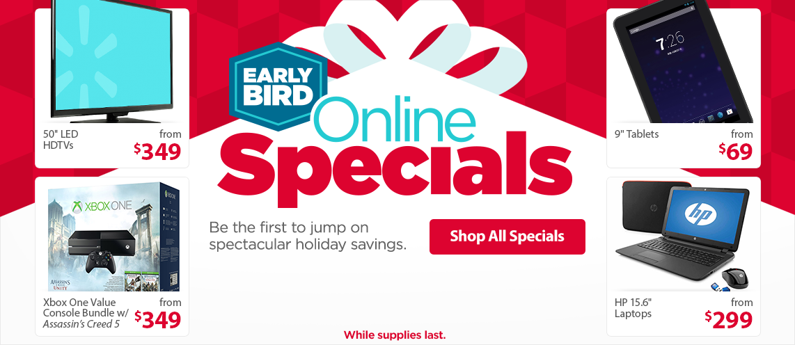 Electronics Early Bird Online Specials