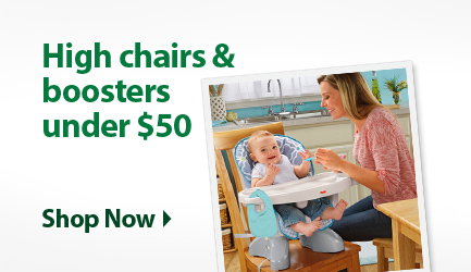 High chairs & Boosters Under $50