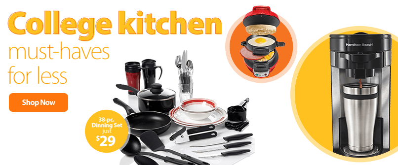 College kitchen must-haves for less